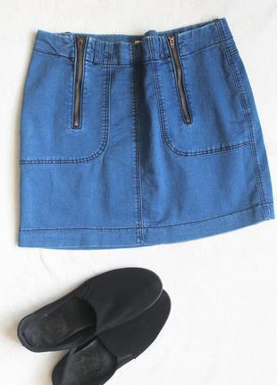 Стильная джинсовая юбочка, размер l