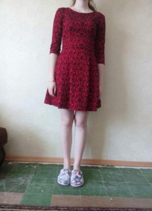 Красивое платье с красивым узором