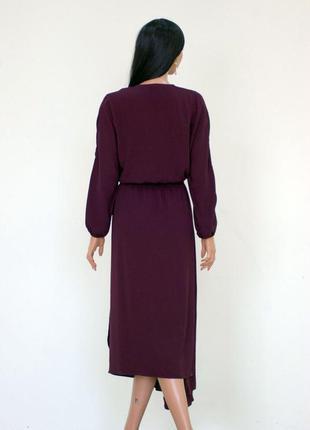 Очаровательное платье цвета марсала5