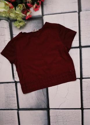 Красивая футболка-топ цвета марсал