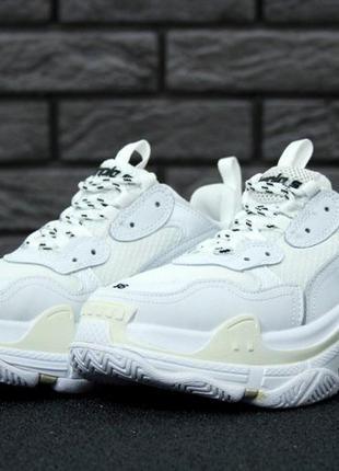 Белые женские кроссовки 36 37 38 39 40 рр
