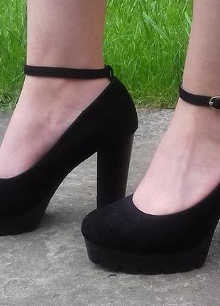 303d0f8a52b236 Чорні туфлі на високому каблуці, цена - 480 грн, #12602984, купить ...