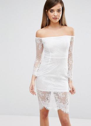 Club l ніжна біла ажурна сукня