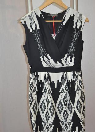 Черно белое платье limited collection