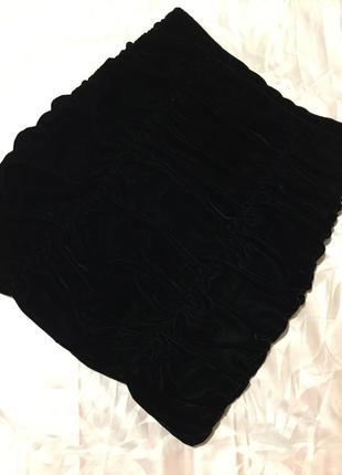Бархатная юбка  h&m