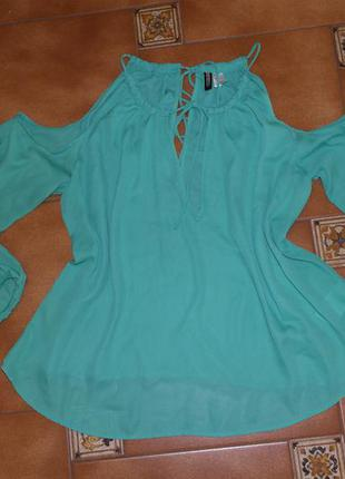 Блузка с открытыми плечами h&m