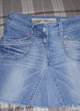 Классная джинсовая юбка на лето