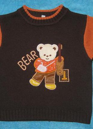 Вязаный свитер 2-3 года
