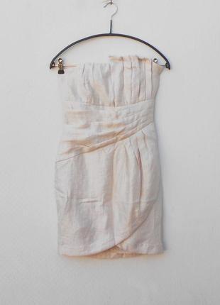 Летнее нарядное платье бюстье без бретелек