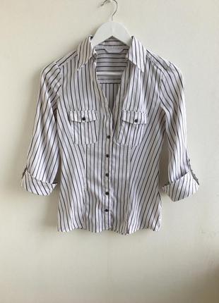 Трендовая рубашка в полоску promod