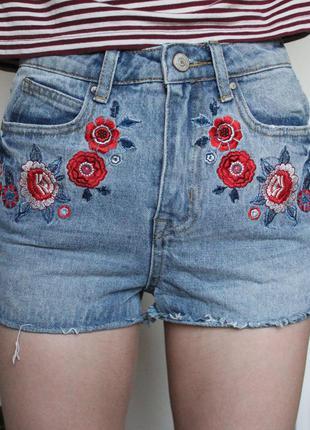 Denim co джинсовые шорты с вышивкой