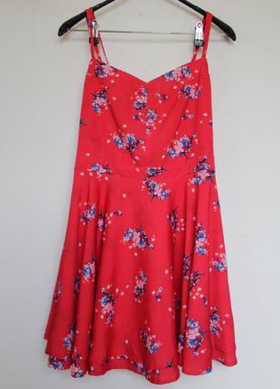 Atmosphere красный сарафан платье в цветы