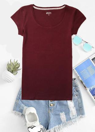Базовая футболка красивого цвета марсала  tally weijl
