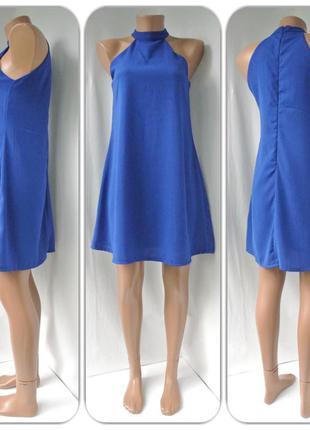 """Яркое, стильное платье """"missguided"""" ярко-синего цвета. размер s."""