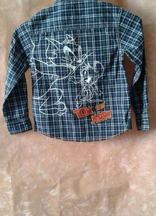 Стильная рубашка ovs италия р,116 лот 69