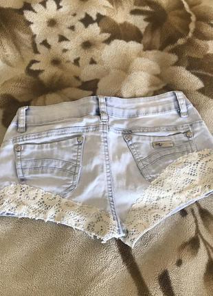 Шорты джинсовые размер 25