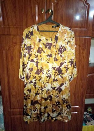 Красивое легкое платье 50 размера