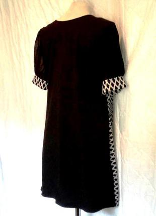 Симпатичное платье- туника темно-синего цвета, m-l2 фото