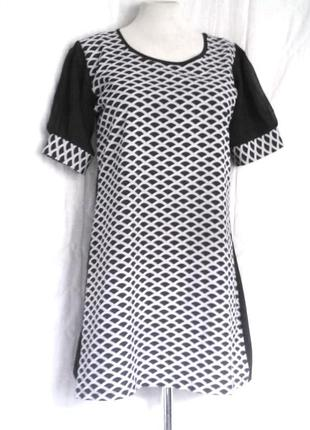 Симпатичное платье- туника темно-синего цвета, m-l3 фото