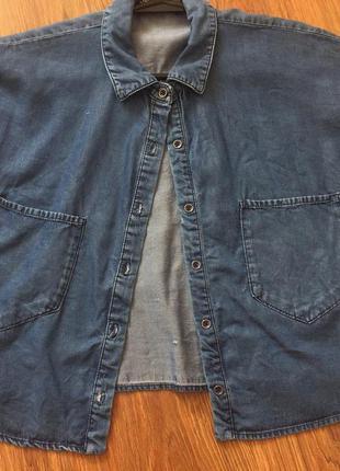 Котон укороченная блуза рубашка