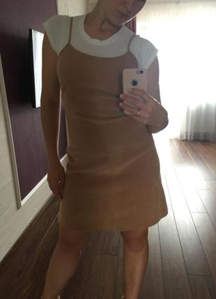 Супер платье горчичного цвета