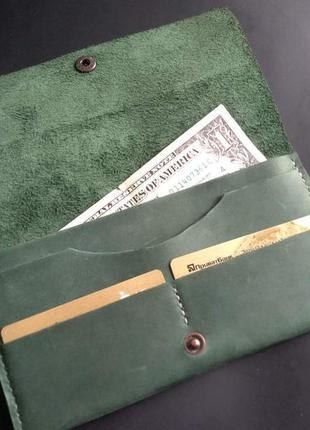 Кожаный кошелек. 100% натуральная кожа