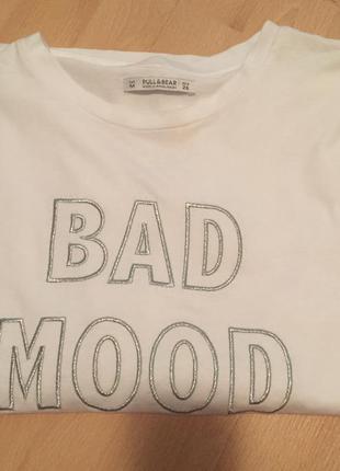 Белая футболка pull&bear