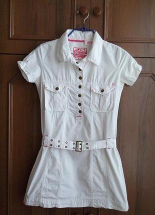 Короткое летнее платье в стиле casual