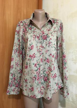 Коттоновая рубашка в цветочный принт!