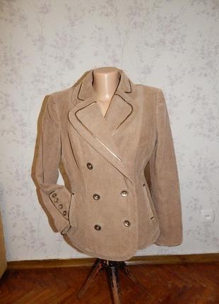 Marks&spencer пиджак жакет вельветовый стильный модный р10 per una