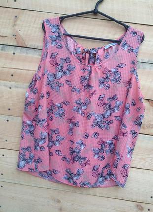 Яркая и легкая  блуза в принт на лето!