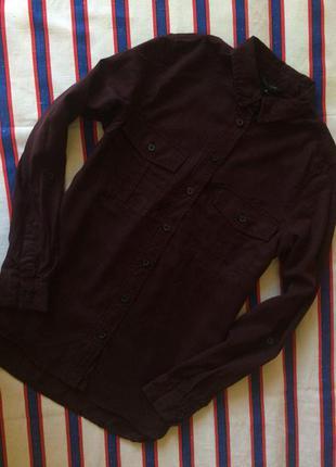 Классная плотная рубашка new look