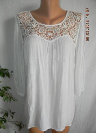 Блуза натуральная с кружевом atmosphere