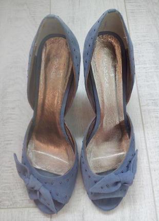 Туфли замша оч удобные р.41(26,5см)
