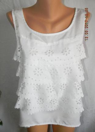 Белая блуза с кружевом be beau