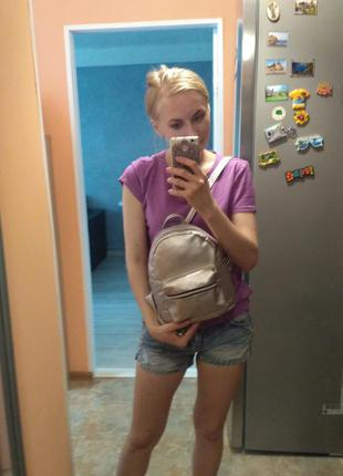 Красивый рюкзак -мини, цвет серебро5