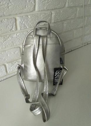 Красивый рюкзак -мини, цвет серебро4