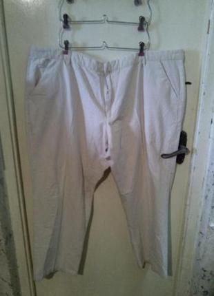 Натуральные (лён,коттон),мужские брюки,большого размера, williams&brown