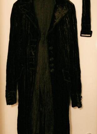 Пиджак, жакет тёмно-шоколадный велюровый.