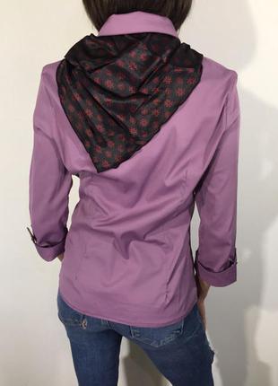 120035dd984 ... размеры1  Очень стильная женская рубашка с галстуком сиреневая есть  размеры2 ...