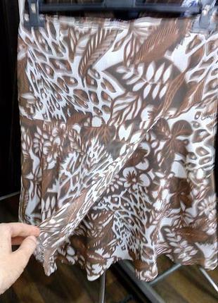 Невесомая юбка на фигурной кокетке и эффектом запаха