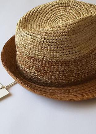 Мегакрутая  соломенная шляпа федора от scotch&soda, 57 cм, нидерланды