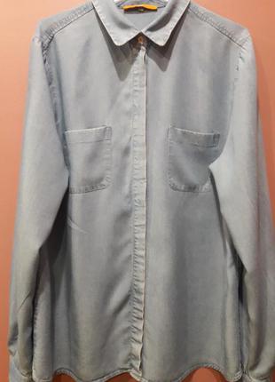 Тоненькая джинсовая рубашка