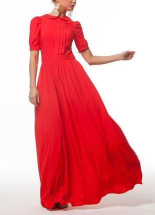 Шикарное алое платье от musthave - макси, вечернее, в пол, нарядное, на выпускной