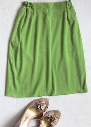 Летняя салатовая юбка карандаш, размер xs