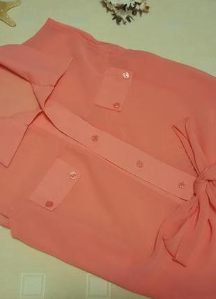 Укороченная рубашка на завязке