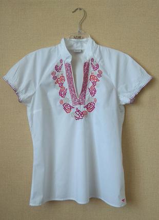 Красивая блузка с вышивкой от esprit, 100% хлопок
