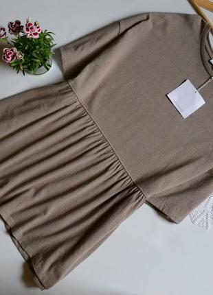 Zara блуза туніка тілесна