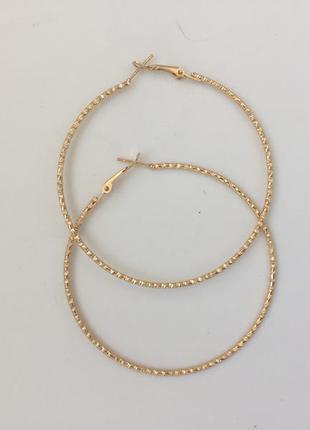 Серьги-кольца из набора stradivarius
