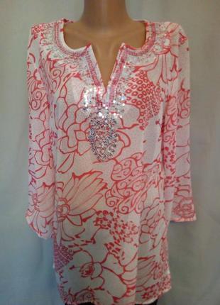 Распродажа! красивая нежная шифоновая туника, блуза №1bp
